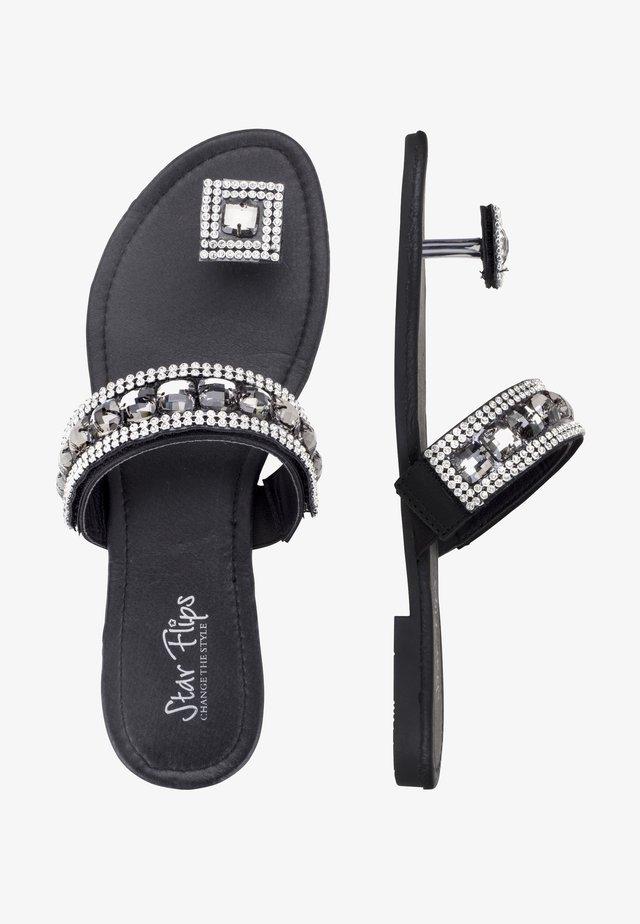 3 IN 1 - T-bar sandals - schwarz