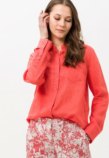 STYLE VICTORIA - Button-down blouse - light red