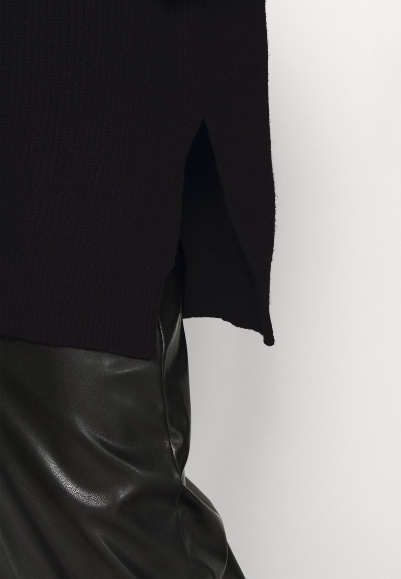 NA-KD SIDE SLIT - Strickpullover - black/schwarz RQ0ei0