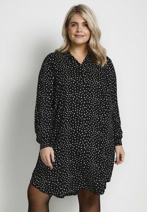 MILANA  - Day dress - black / chalk dots