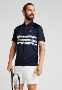 Lacoste Sport - TENNIS POLO DJOKOVIC - Polo shirt - navy blue/white - 0