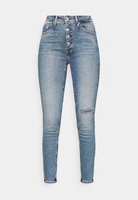 HIGH RISE ANKLE - Jeans Skinny Fit - denim medium