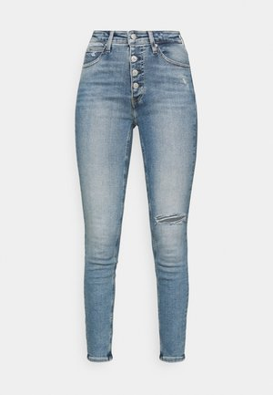 HIGH RISE ANKLE - Skinny džíny - denim medium