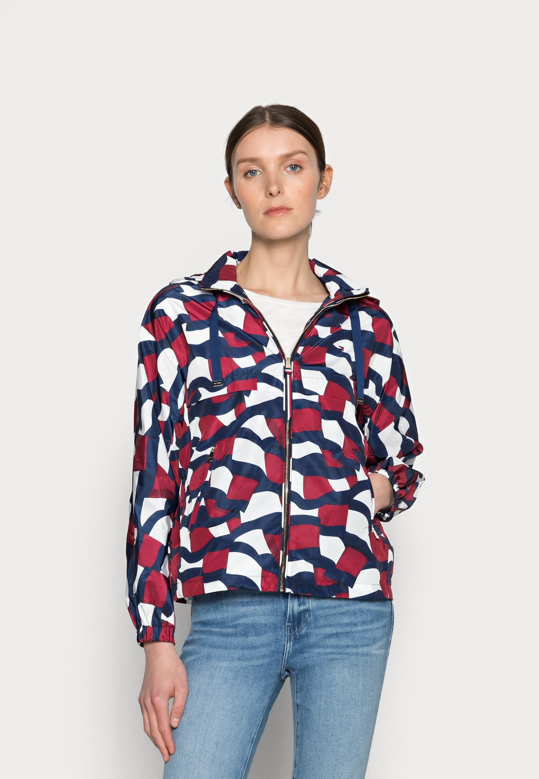 Women POLY PRINTED WINDBREAKER - Summer jacket