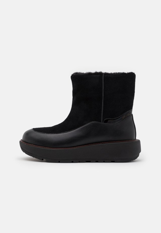 ELIN - Platform ankle boots - all black
