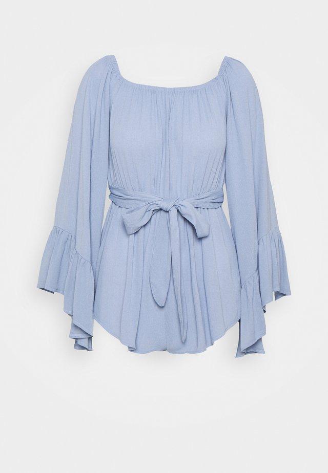 BARDOT SLEEVE CRINKLE PLAYSUIT - Tuta jumpsuit - blue
