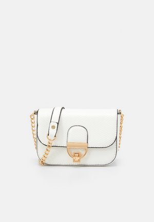 LAUREN LIZARD CHAIN SHOULDER - Umhängetasche - white