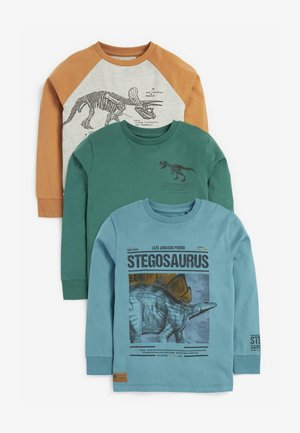3 PACK LONG SLEEVE GRAPHIC - Long sleeved top - blue