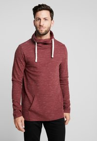 edc by Esprit - FUNNEL NECK TEE - Long sleeved top - bordeaux red - 0