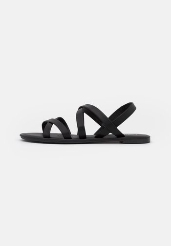 LUCY STRAPPY SLINGBACK - Sandals - black