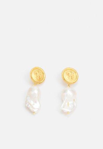 HERCULES LOST SEA PIN EARRINGS - Earrings - gold-coloured
