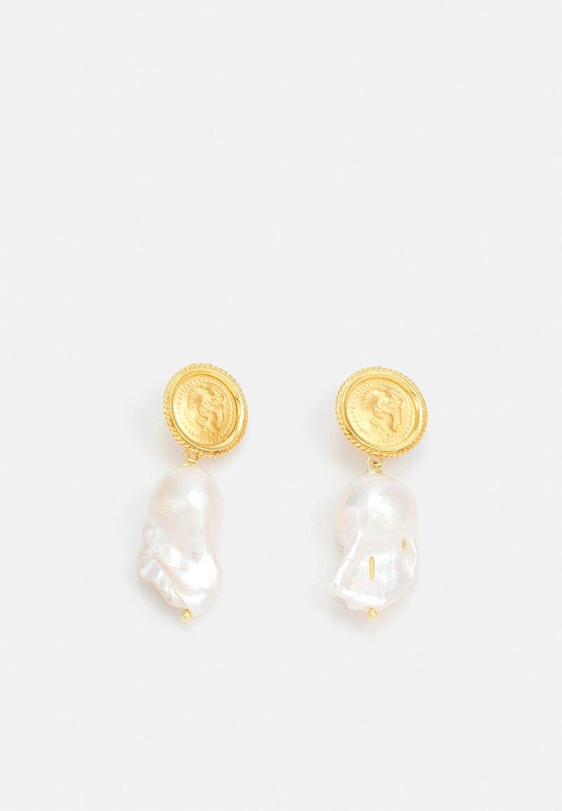 Hermina Athens - HERCULES LOST SEA PIN EARRINGS - Earrings - gold-coloured