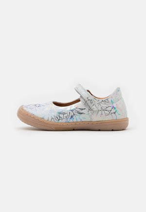 MARI - Ankle strap ballet pumps - white/multicolor