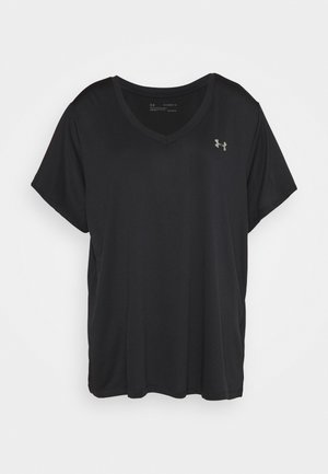 TECH SOLID - Basic T-shirt - black