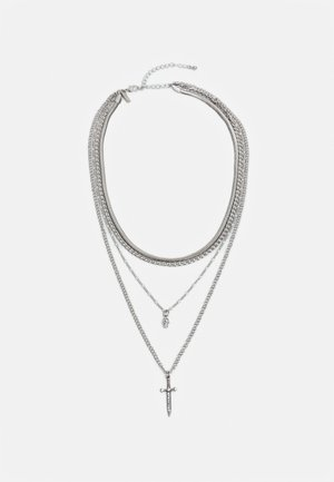 DAGGER T BAR MULTIROW - Necklace - silver-coloured