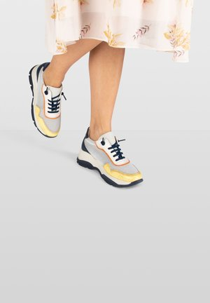 ANDES  - Sneakers laag - beige,/yellow/dark blue