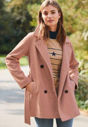 BELTED - Short coat - pink