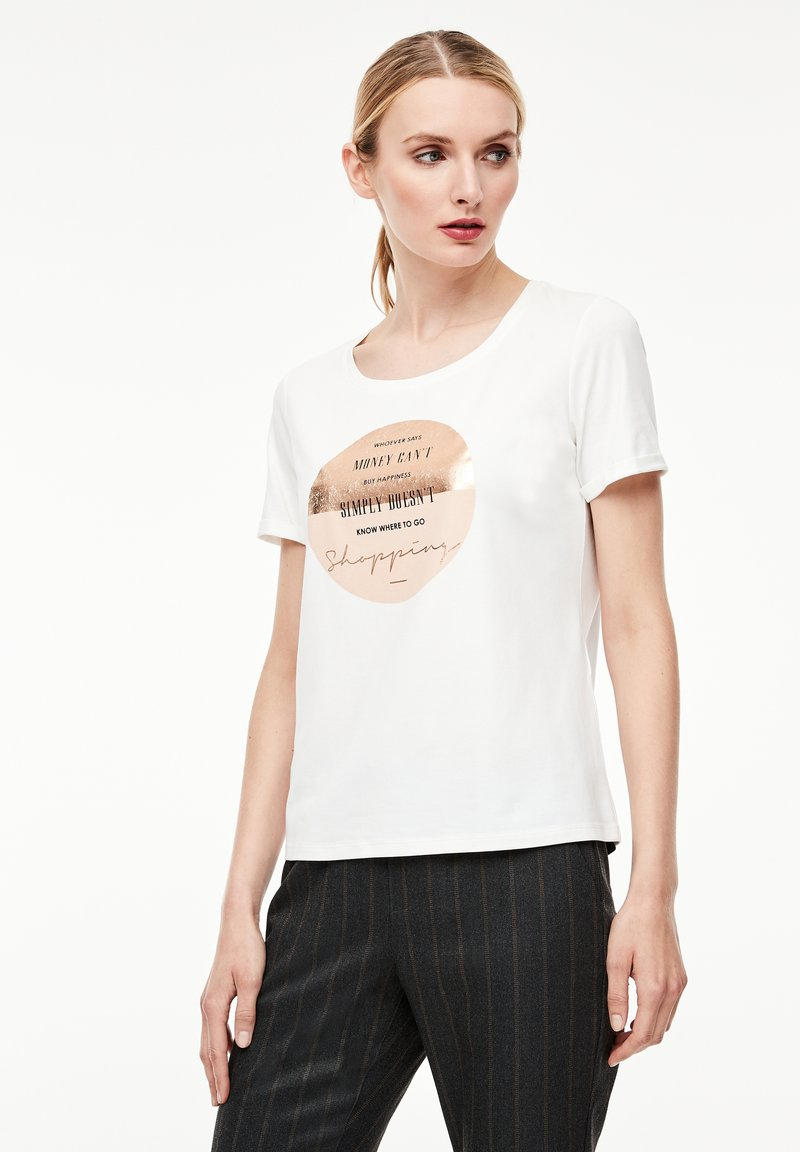 comma casual identity - Print T-shirt - white placed print