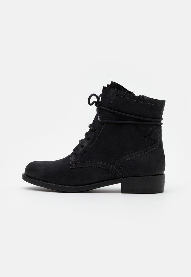 BOOTS - Schnürstiefelette - black