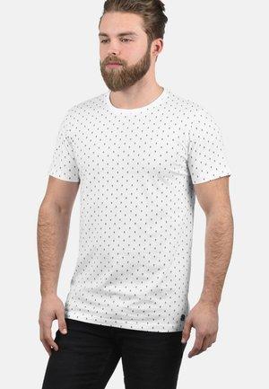 RUNDHALSSHIRT AARON - T-shirt z nadrukiem - white