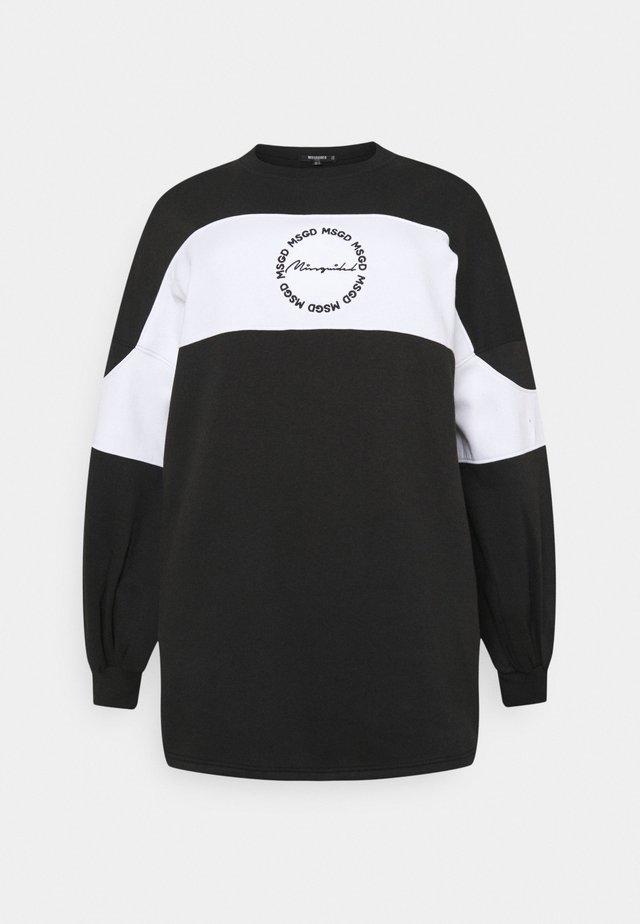 MIX LOGO PANEL DRESS - Sukienka letnia - black