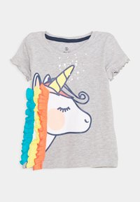 Lemon Beret - SMALL GIRLS - Print T-shirt - light grey melange - 0