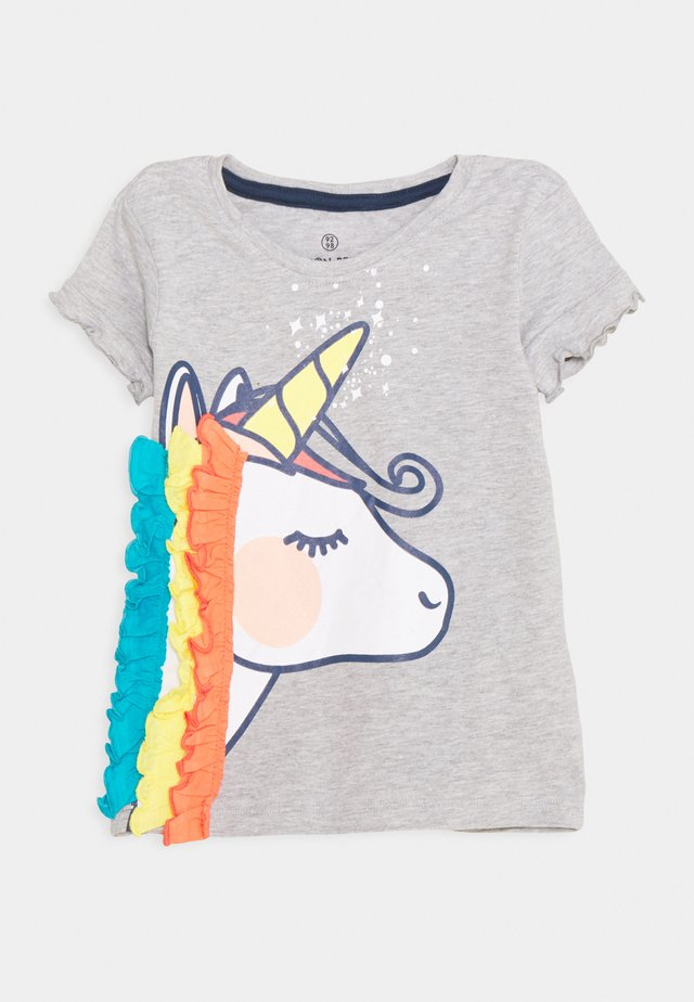 SMALL GIRLS - T-shirt z nadrukiem - light grey melange