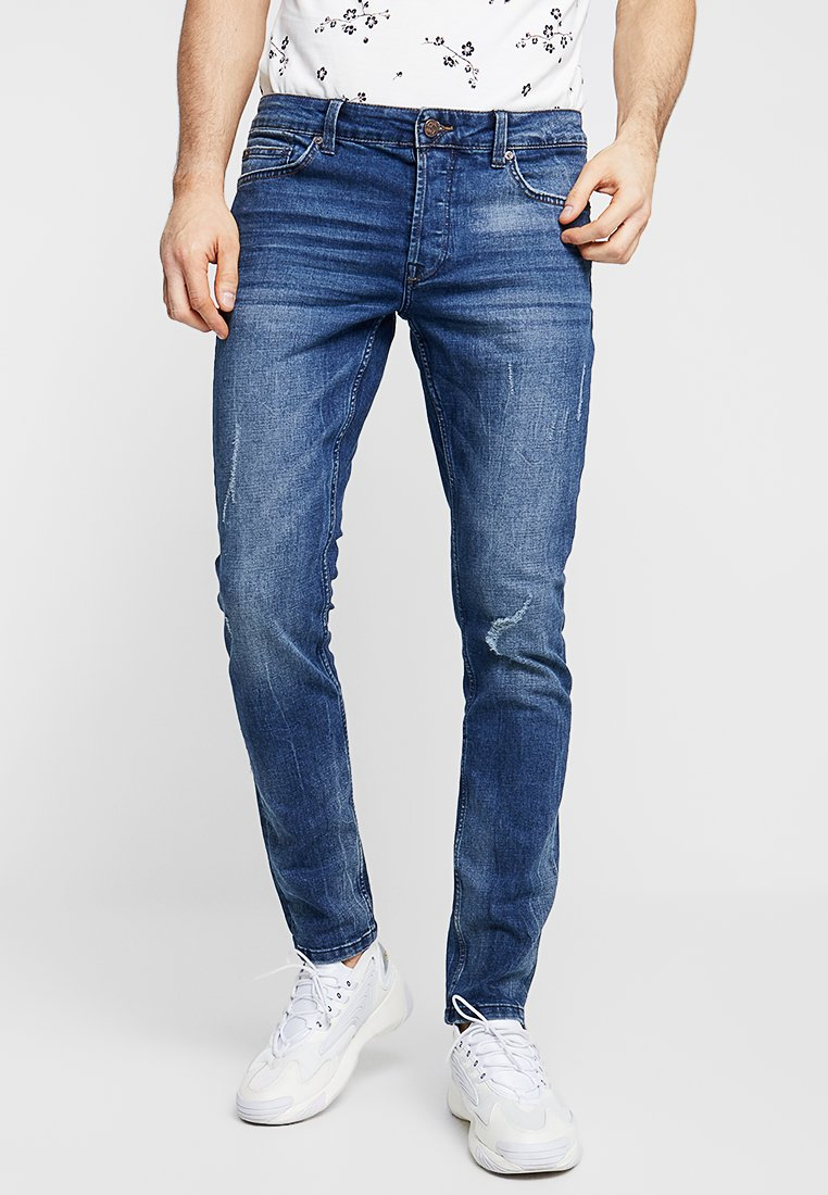 Only & Sons - ONSLOOM DAMAGE - Slim fit jeans - blue denim
