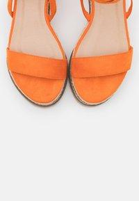 Koi Footwear - VEGAN FAN - Platform sandals - orange - 5