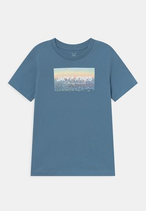 JORBENTS TEE CREW NECK JR - T-shirt con stampa - blue heaven