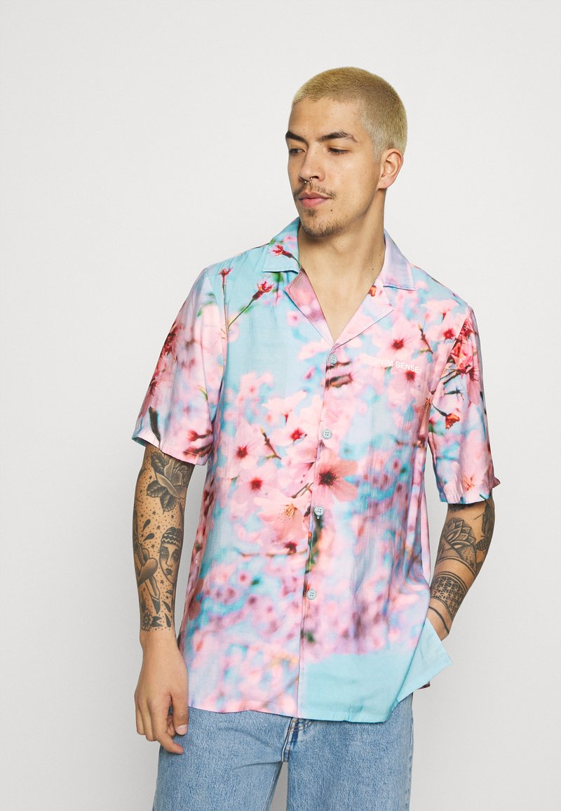 9N1M SENSE - SPECIAL PIECES  UNISEX - Camisa - blue/pink