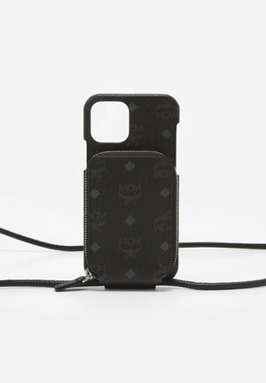 IPHONE 12/12 PRO CASE WITH ZIP POCKET IN VISETOS ORIGINAL - Phone case - black