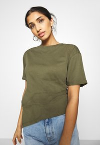 Even&Odd - Basic T-shirt - olive night - 3