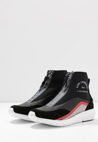 KARL LAGERFELD - VITESSE NEO SOCK ZIP  - High-top trainers - black - 4