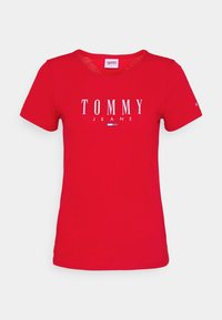 Tommy Jeans - ESSENTIAL LOGO TEE - Print T-shirt - deep crimson - 5
