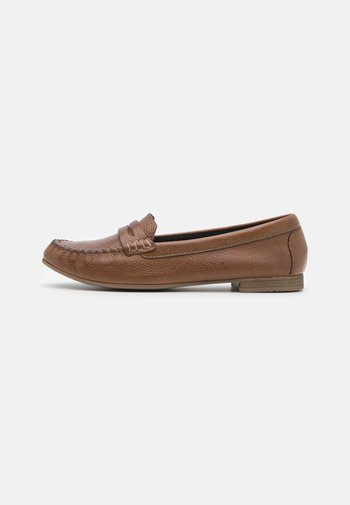 LEATHER - Slippers - brown