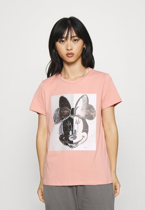 ONLMINNIE SPLIT FACE  - Print T-shirt - rose tan