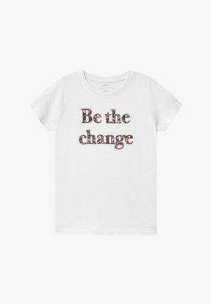 NKFKAIZA - Print T-shirt - bright white