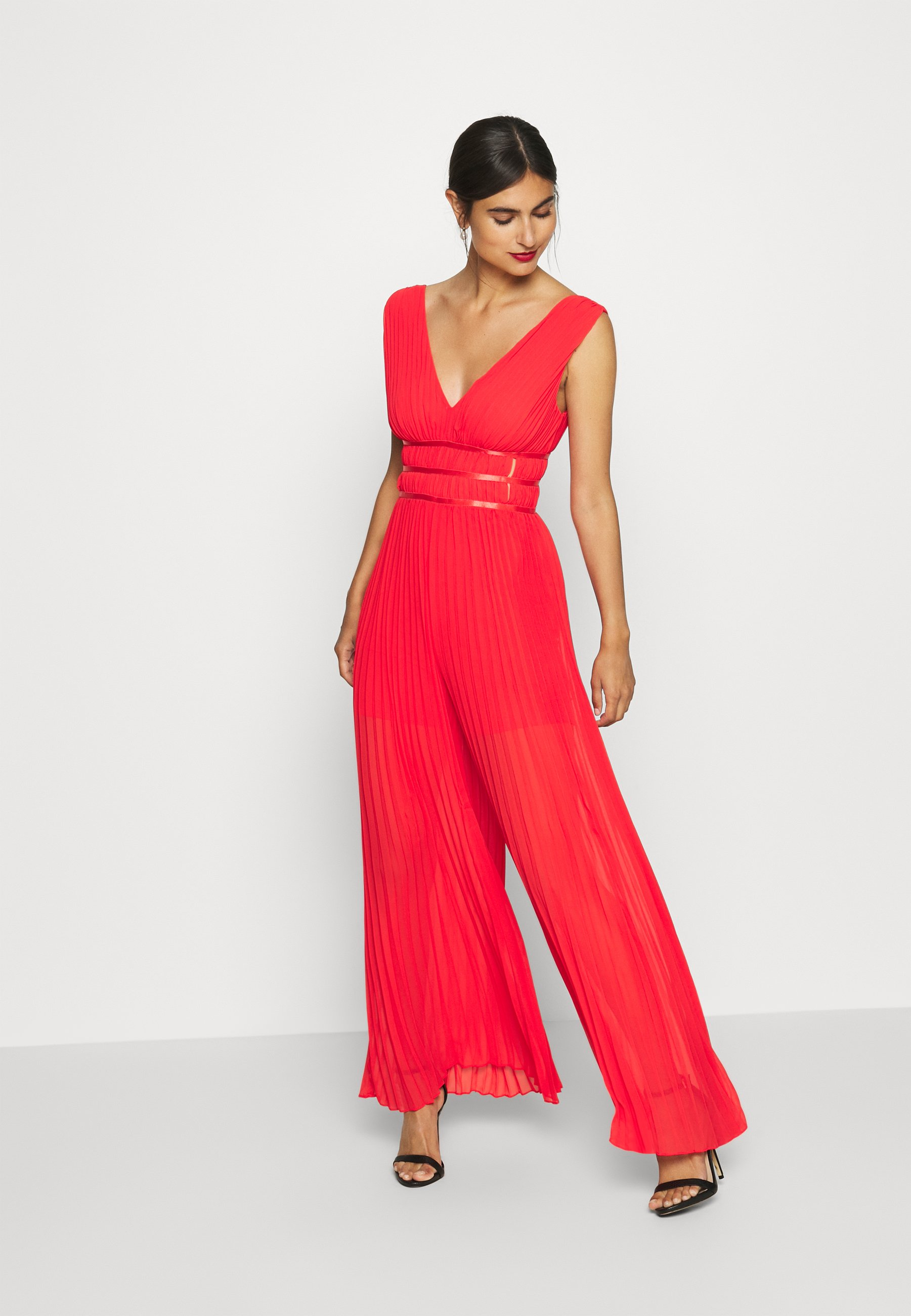 Guess LANA OVERALL - Combinaison - necessary red - Pantalons & Leggings Femme mGyqH