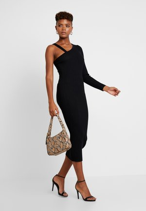 ONE SHOULDER ASYMMETRIC DRESS - Jumper dress - black