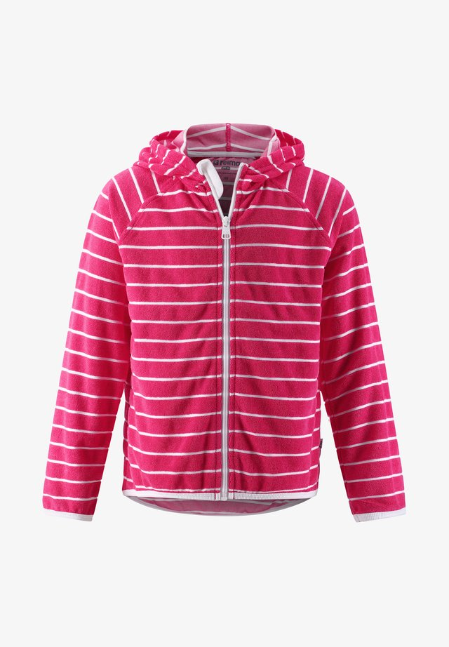 Zip-up hoodie - berry pink