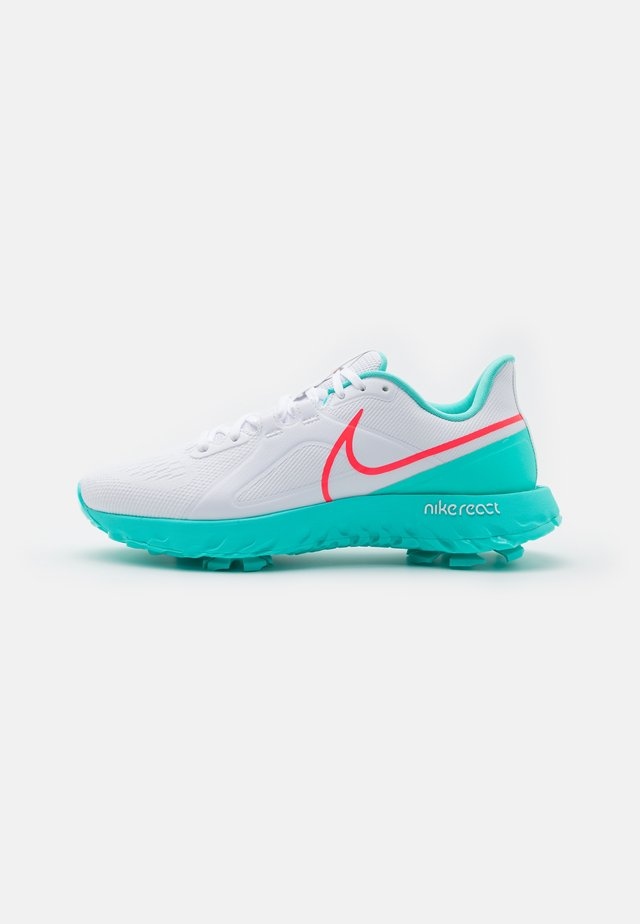 REACT INFINITY PRO - Golfskor - white/hot punch/aurora green