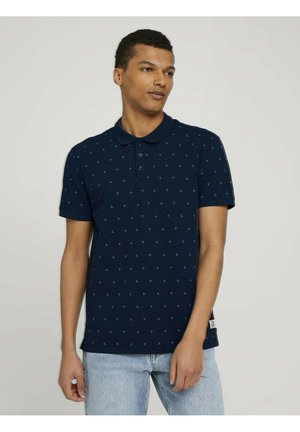 Polo shirt - navy dot triangle print