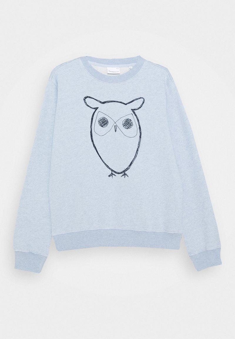 KnowledgeCotton Apparel - LOTUS OWL - Mikina - light blue