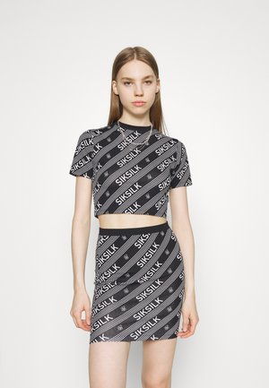 LOGO CROP TEE - T-shirt print - black