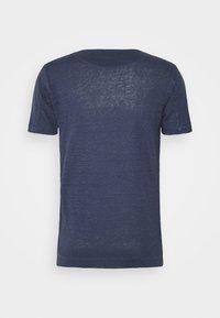 120% Lino - SHORT SLEEVE - Jednoduché triko - blue navy - 1