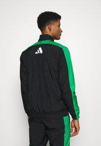 adidas Performance - ZIP - Træningssæt - black/black/vivgreen - 2