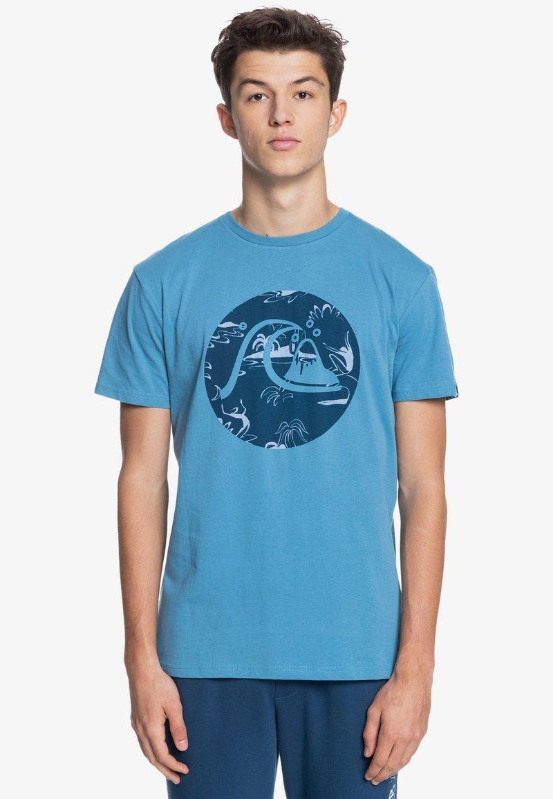 Quiksilver - BUBBLE JAM  - Print T-shirt - blue heaven