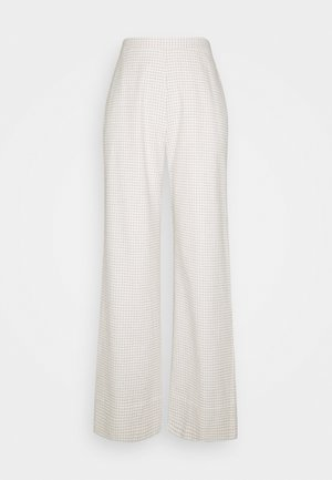 ALFIE WIDE PANTS - Pantalones - cream/black