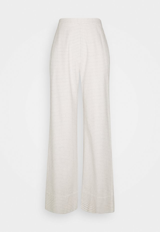 ALFIE WIDE PANTS - Trousers - cream/black